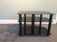 TV Stand in black smoke glass