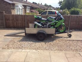 Combo bike/box trailer