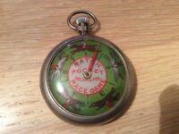 Vintage NATCH horse race pocket watch game