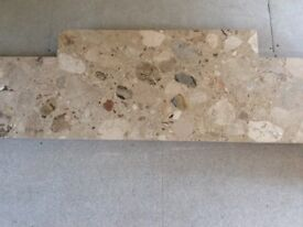 Marble hearth, beautiful natural colours