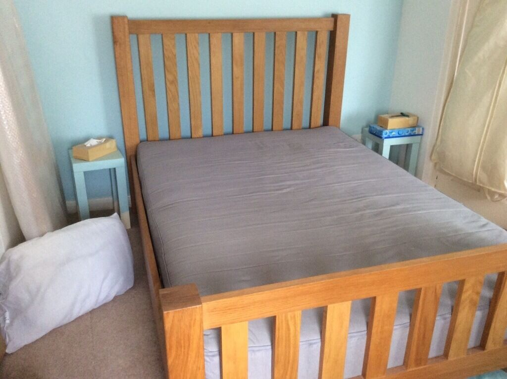 Double Bed For Sale Very Good Condition Barely Used As In Spare Room 200 Includes Mattress