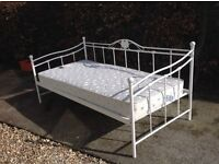 Single day bed and mattress