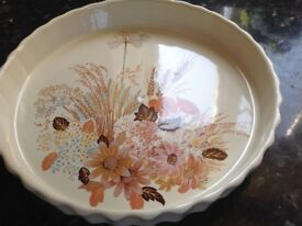 Poole pottery summer glory flan dish