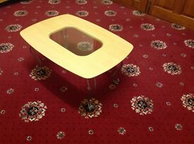 Cream foldable coffee table