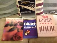 SONG BOOK, BLUES CHORDS, PIANO PATTERN, KEYBOARD IDEAS EXC CON.