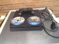 Playstation 4 slim 500gb plus 2 games
