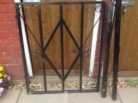 Galvanised garden gate hand maid