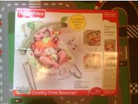 Fisher-Price Woodsy Friends Comfy Time Bouncer Brown Good condition