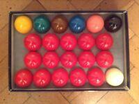 Snooker Balls x 2 sets of Belgian Aramith