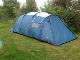 Vango Oregon 600 - 6 berth family tent. 3 bedroom. 2 doors