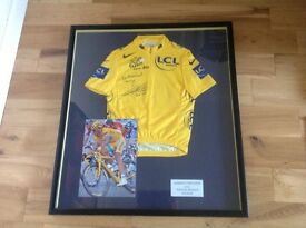 Tour de France signed yellow jersey