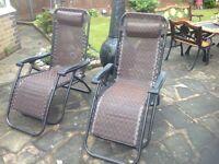 2 Reclining Garden chairs