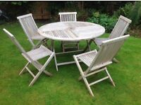 Solid wood quality Garden Furniture Set with 5 Chairs