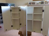 White bathroom wall cabinet in good condition
