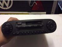 vw 2002 new beetle radio tape player retro