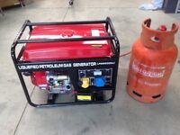 L.P.G. Gas Generating set LPG6500 CLE Electric Start