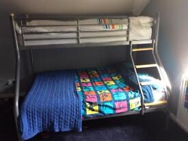 Bunk beds - triple (metal chrome)