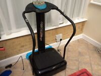 Crazy fit vibration power plate, message machine