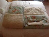 MERINO Sheepskin cot duvet mattress topper pillow cot bumpers NEW