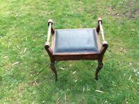 piano stool made from walnut wood