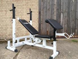 Klar Fit Bench with Preacher Attachment (Delivery Available)