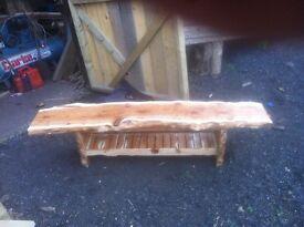 hardwood table made for Scottish yew