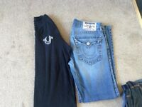 True Religion jeans and t shirt