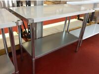 Stainless steel work table 4ft/ 122cm