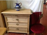 Dutch pine chest of drawers