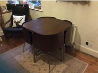 Stunning IKEA table and chairs! Perfectly designed for small spaces. Very good condition!