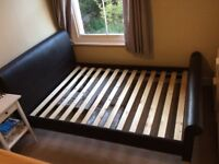 Faux leather double bedframe