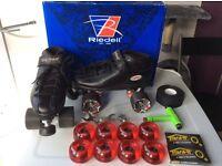 Riedell R3 Quad Roller Skates Derby Skates bundle