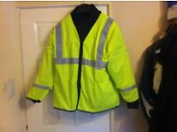 hi viz motorcycle jacket size xl 54 chest all new with zip front