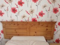 Pine headboard to fit double bed