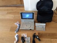Goodmans portable DVD player with carry case