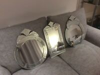 3 Beautiful Venetian Wall Mirrors