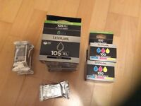 Lexmark printer ink 105XL and 100