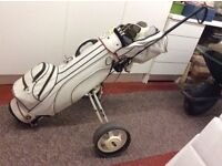 Golf clubs with trolley. Full set