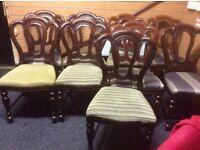 Set of 10 mahogany restaurant chairs
