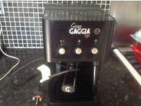 Gaggia coffee machine black