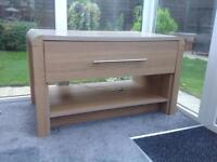 FREE FREE - Light oak veneer media unit - some fading on the top surface but perfectly usable
