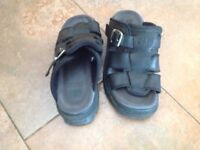 Black caterpillar chunky sandals size 5.