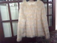 Faux Fur Ivory Jacket