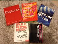 Five books on graphic design, branding and advertising