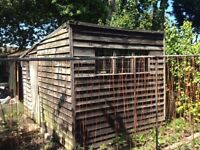 Garden Shed 10' * 8' Dismantled free to collect.