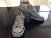 Brand New Women's Silver Converse trainers