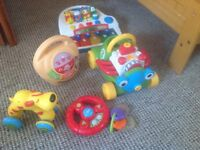 Baby and toddler mixed small and large toy items and bath stuff