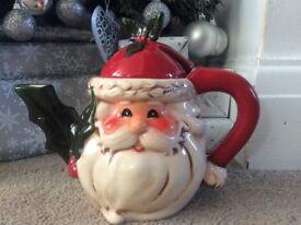 Santa China Tea Pot & Milk Jug.