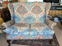 Liberty sofa and matching chair, vintage