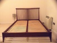 Dark Walnut Ercol King Size Bed - purchased from John Lewis